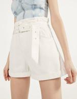 Stradivarius white shorts