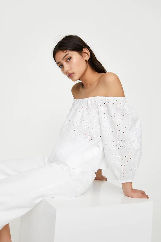 Pull & Bear white dress