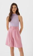 Bershka pink bermuda shorts