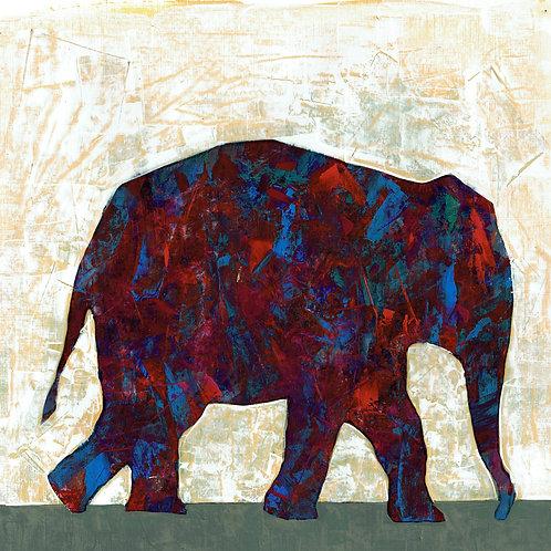 ELEPHANT- a figure print of an original painting