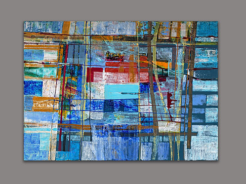SUPERPOSITION IN BLUE- a print of an original painting