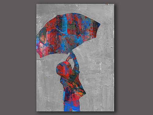 UMBRELLA- a print of a hand made acrylic painting