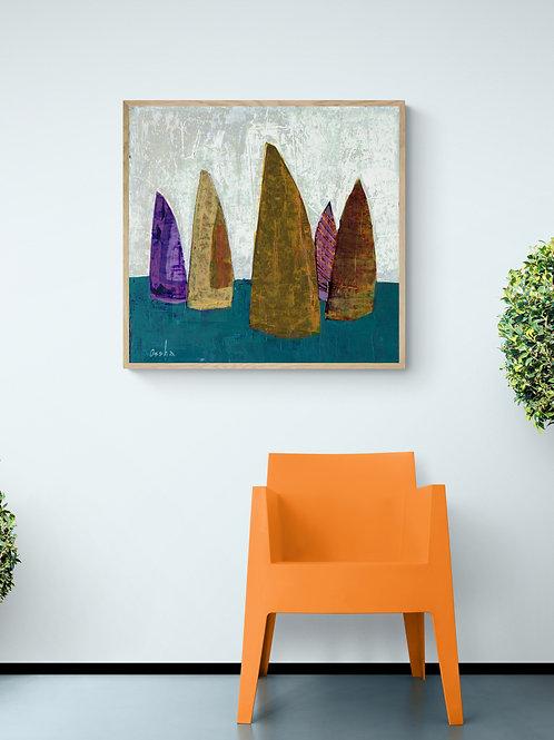 SAILING- a print of an original painting