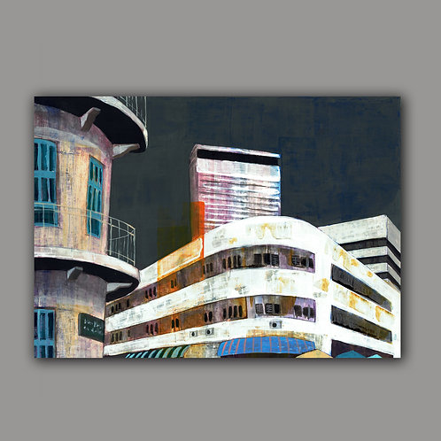 URBAN VIEW- a print of an original painting