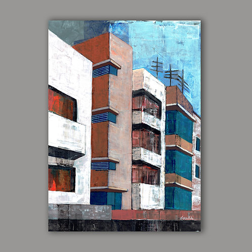 VERTICAL TLV- a print of an original painting