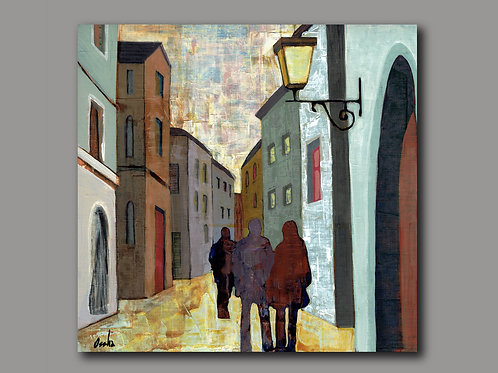 JAFFA ALLEY  -  print of an original painting