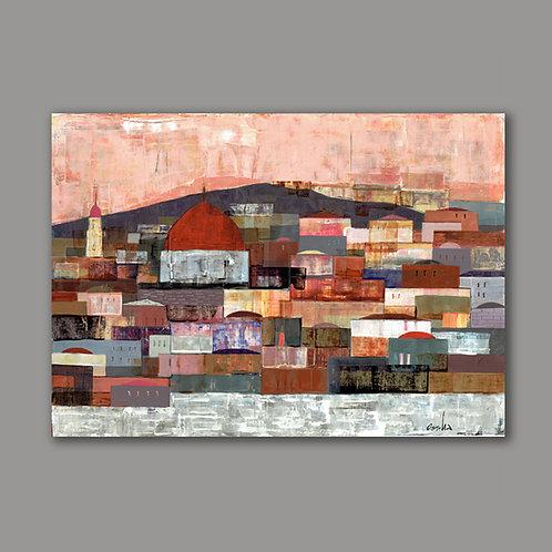 JERUSALEM VIEW- a print of an original painting