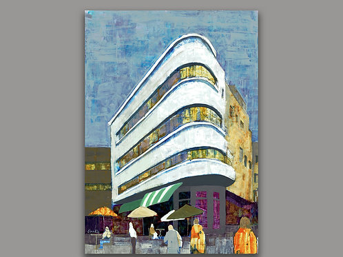 TEL AVIV CITY- a print of an original painting