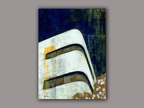 CORNER BAUHAUS- a print of an original painting