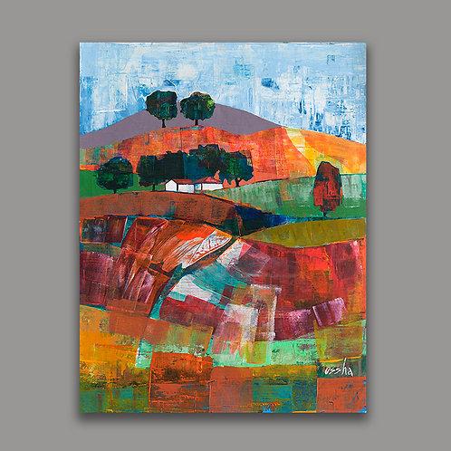 VERTICAL LANDSCAPE- a print of an original painting
