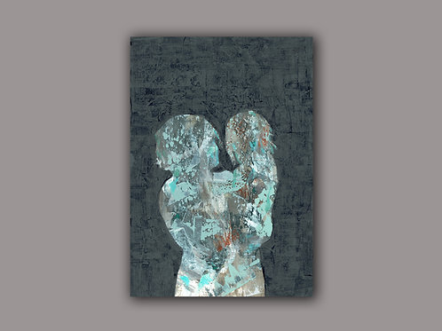 MOTHER CARE-a print of a hand made acrylic painting