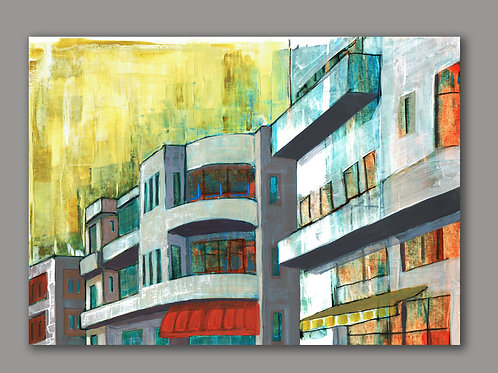 TEL AVIV SUMMER TIME- a print of an original painting