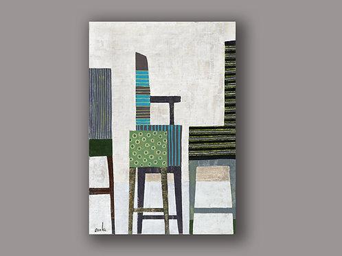 CONVERSATION- a print of an original painting