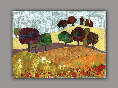 SUMMER HILL- a print of an original painting
