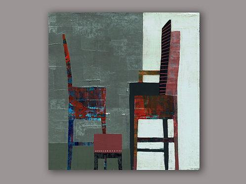 TEA BREAK- an abstract print of an original painting