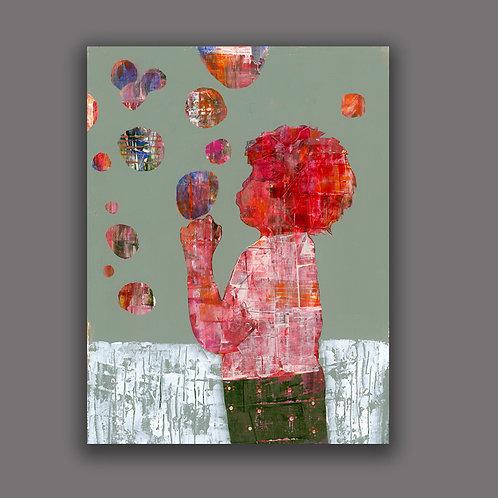 BUBBLE BOY- a print of an original painting