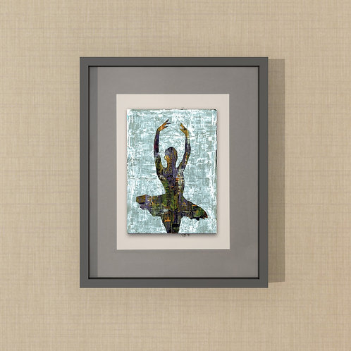 A DANCER -a print of a hand made acrylic painting