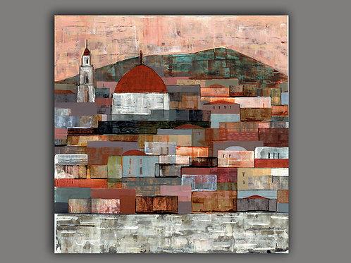SQUAR JERUSALEM -  print of an original painting