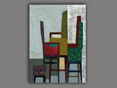 HI AGAIN- an abstract print of an original painting