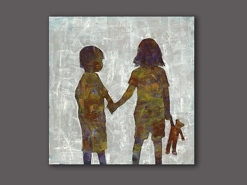 SIBLINGS- a figure print of an original painting