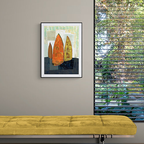 3 BOATS- a print of an original painting