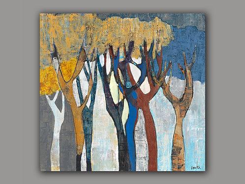 LYRIC TREES-- a print of an original painting