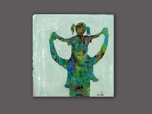 JOY- a figure print of an original painting