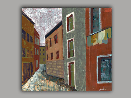 LITTLE ALLEY -  print of an original painting