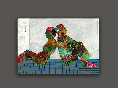 COUPLE- a print of an original painting