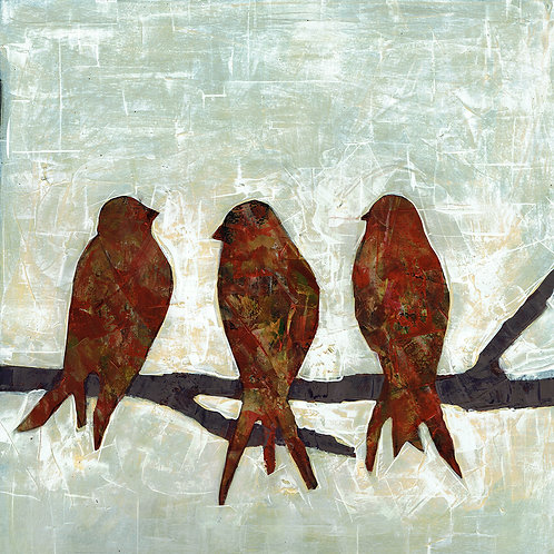BIRDS- a figure print of an original painting