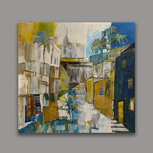 JAFFA STREET- a print of an original painting