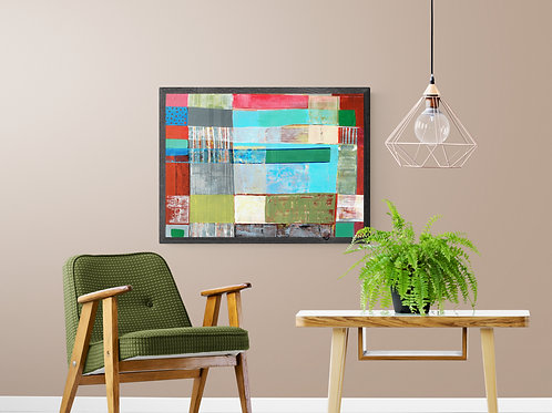 STRIPES- an abstract print of an original painting