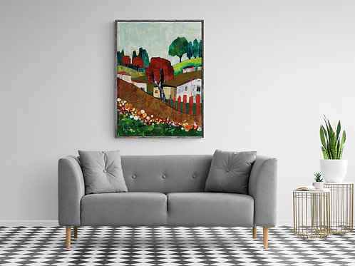 KIBUTS- a print of an original painting