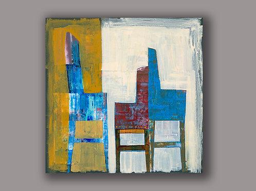 MODERN CHAIS- an abstract print of an original painting