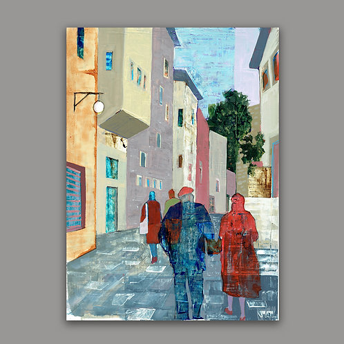 JERUSALEM ALLEY a print of an original painting