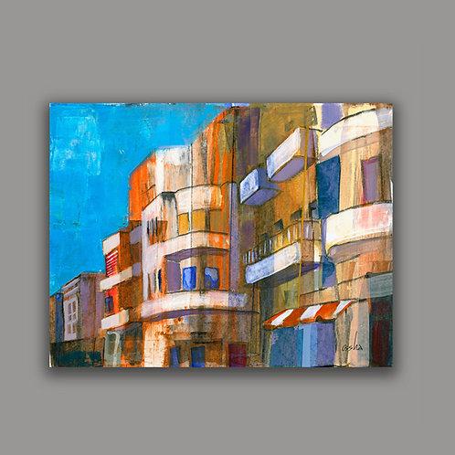 TEL-AVIV SUMMER- a print of an original painting