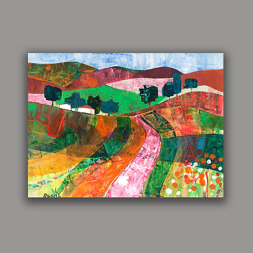 GALILEE VIEW- a print of an original painting