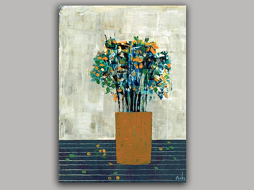 FLOWERS- an abstract print of an original painting