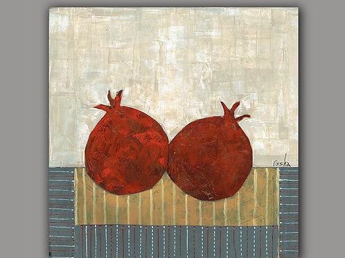 SHANA TOVA- an abstract print of an original painting