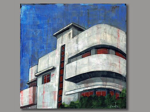 BAUHAUS TEL AVIV  -  print of an original painting