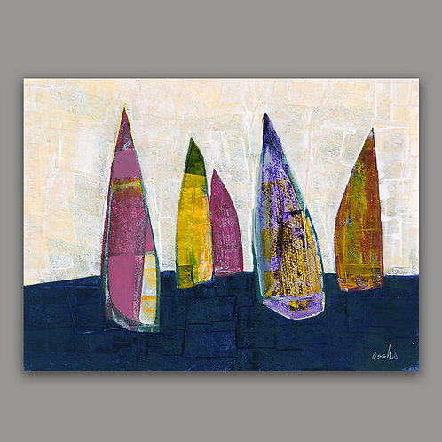 SAILBOATS- a print of an original painting