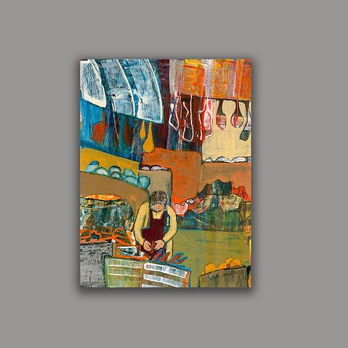 TEL-AVIV MARKET- a print of an original painting