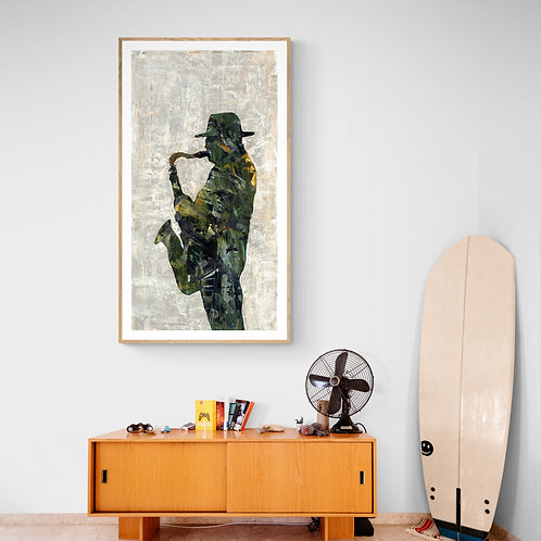 COOL JAZZ  - a print of an original painting