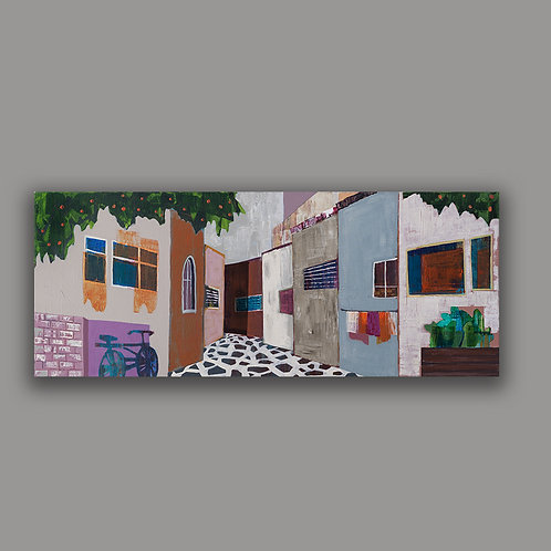 JAFFA ALLEY- a print of an original painting