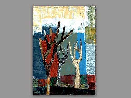 GEOMETRIC TREE- a print of a hand made acrylic painting