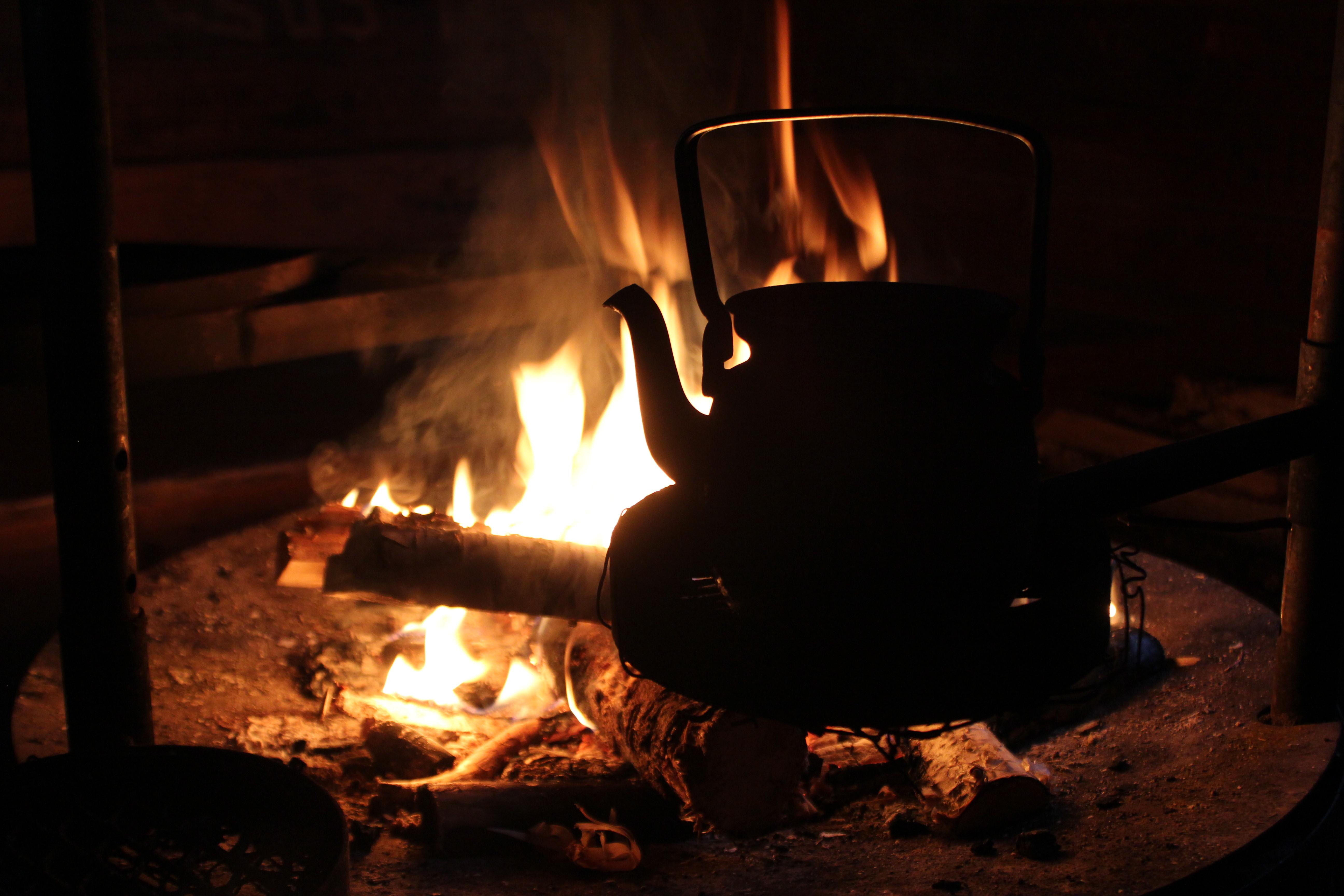 Grillades & cuisine en hutte laponne