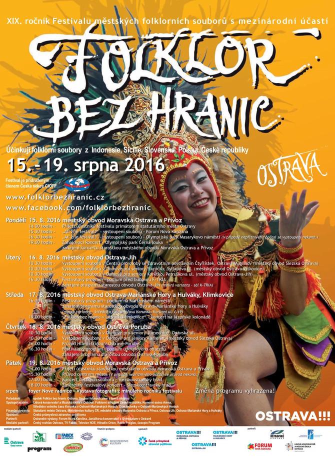 XIX.ročník Festivalu Folklor bez hranic Ostrava 2016