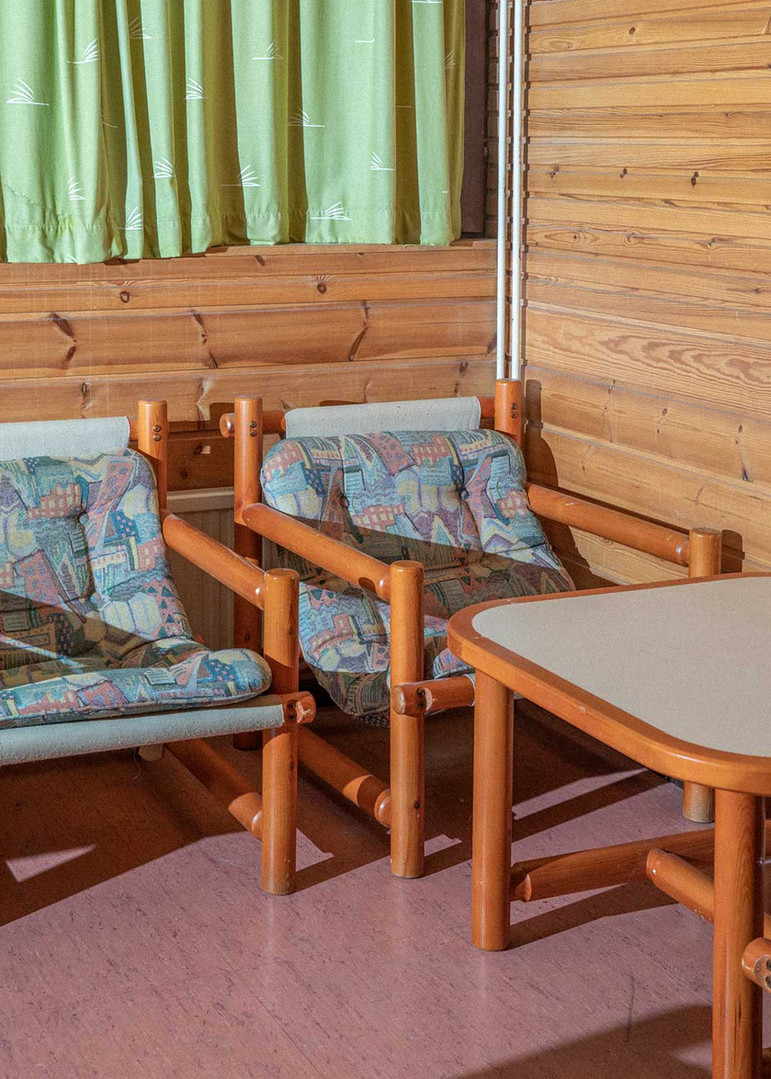 Motelli's sauna lounge
