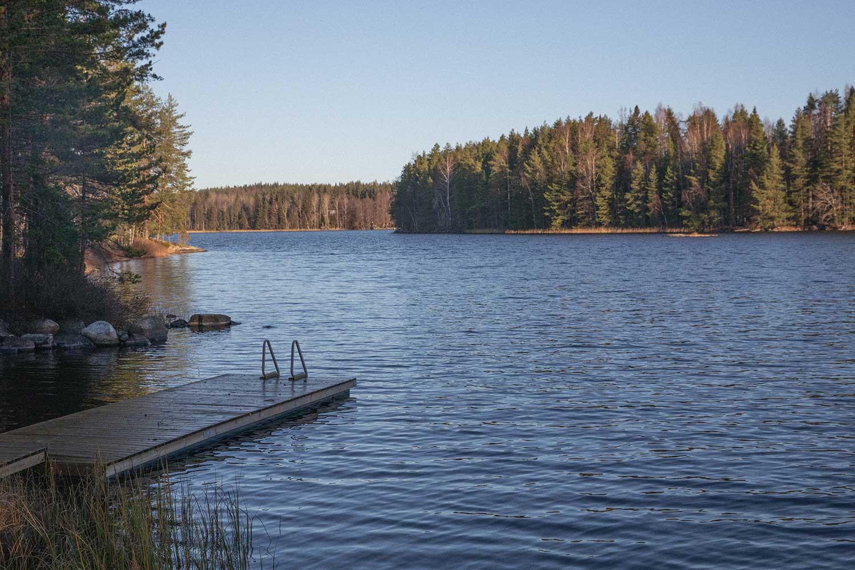 Peruvesi Lake - Beautiful view from Rantasauna