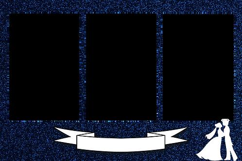 Blue glitter-Magic Mirror